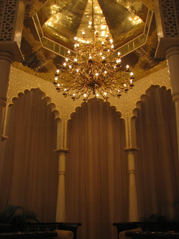 chandeliers at the Leela Hotel in Mumbai, India (Bombay)